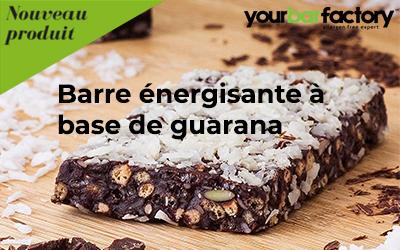 Barre énergisante à base de guarana