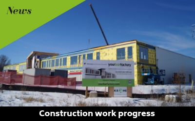 Good progress of our new factory construction work
